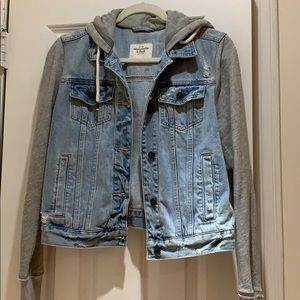 Abercrombie & Fitch Denim Hooded Jacket